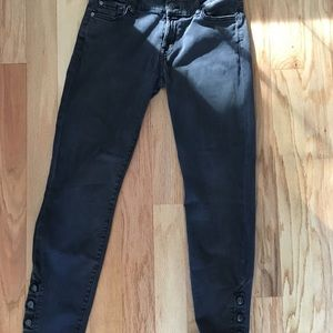 7 For All Mankind Black Jeans